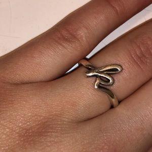 """James Avery """"k"""" ring"""